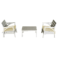 Набір меблів Irak Plastik Барселона (2 крісла + столик) білий