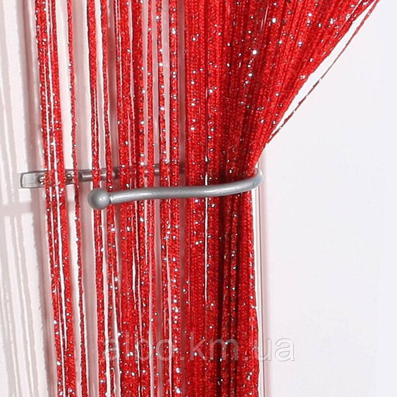 Нити шторы с люрексом 300x280 cm Красные (Ki-314)