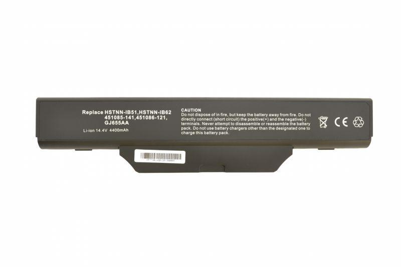 Аккумуляторная батарея для ноутбука HP Compaq HSTNN-IB52 HP 550 14.4V Black 5200mAh OEM