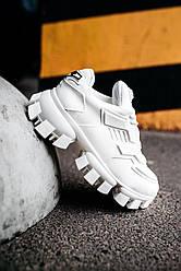 Женские кроссовки Prada Cloudbust Thunder White (белые)
