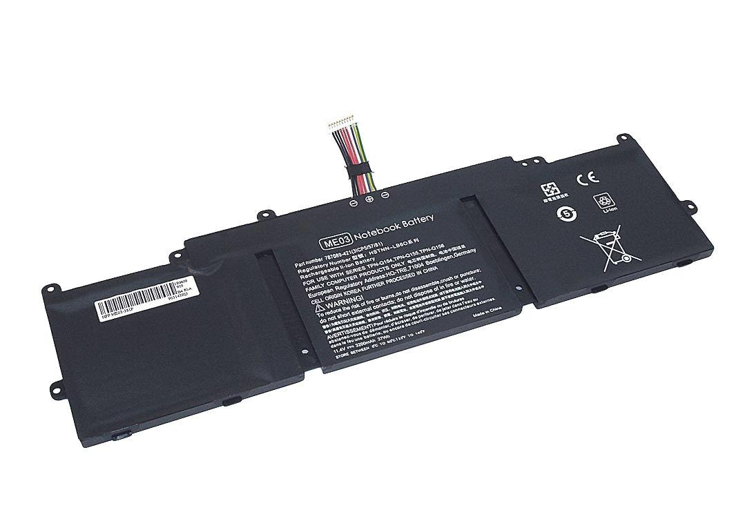 Аккумуляторная батарея для ноутбука HP ME03-3S1P Stream 11 11.4V Black 3200mAh OEM