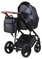 Универсальная детская коляска Bair Leo кожа 100% GN-60 черный, фото 1