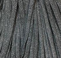 Шнур декоративный люрекс без наполнителя п/э 8мм цв серый с золотом (уп 100м) Ф