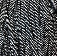 Шнур декоративный люрекс без наполнителя п/э 8мм цв черный с золотом (уп 100м) Ф