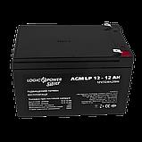 Аккумулятор кислотный AGM LogicPower LP 12 - 12 AH SILVER, фото 2