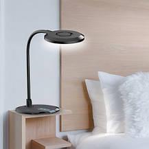 Настольная светодиодная лампа Feron DE1731 8W 3000К-4000К-6000К 480lm 3 уровня света(для учебы, работы) Черная, фото 2