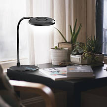 Настольная светодиодная лампа Feron DE1731 8W 3000К-4000К-6000К 480lm 3 уровня света(для учебы, работы) Черная, фото 3