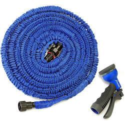Садовый шланг X-Hose 45 метров для полива сада с распылителем Синий