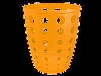 """Корзина для паперу """"Євро"""" 13,5л. (світло-оранжева) [2644-06]"""