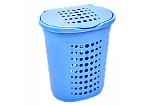Корзина для білизни 60л. (блакитна) [2648-06]