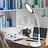 Настольная светодиодная лампа Feron DE1730 16W 5000К 750lm 3 уровня света(для учебы, работы) Белая, фото 3