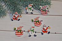 Новогодний мини декор дед мороз снеговик медведь мишка
