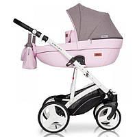 Детская универсальная коляска 2 в 1 Riko Basic Aicon (светло-фиолетовый/серый цвет)