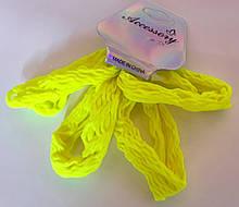 Гумки для волосся 4 шт нейлон 6 см, лимонні