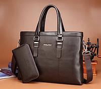 Мужская кожаная сумка. Модель 61214, фото 9