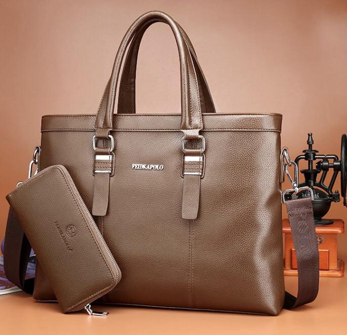 Мужская кожаная сумка. Модель 61214