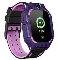 Смарт-часы детские с GPS Brave Q19, фиолетовые, фото 1