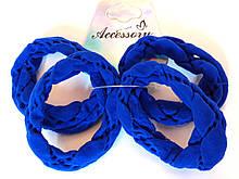 Гумки для волосся 4 шт нейлон 6 см, сині