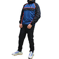 Молодежный болоневый спортивный костюм анорак с прямыми штанами  (Реплика)