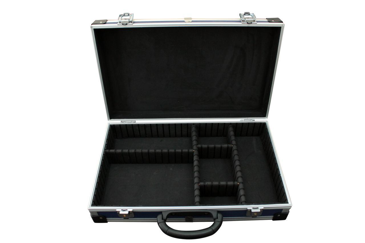 Ящик-кейс (органайзер) для інструменту, алюмінієвий з перегородками, розмір 395 * 240 * 90 мм Htools (79K222-S)