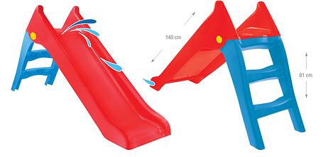Горка детская пластиковая Mochtoys red 140см 11966, фото 2