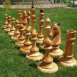 Великі садові шахи з дерева своє виробництво, фото 2
