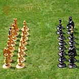 Великі садові шахи з дерева своє виробництво, фото 8