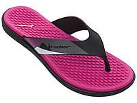 Оригинальные Вьетнамки Женские Rider 82568-24646 SS20 Rider AQUA Fem Black/Pink