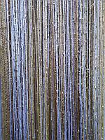 Шторы нити люрекс радужная  золотой/бежевый/белый 2.8 м на 3 м