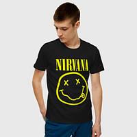 Мужская футболка. Печать на футболке.  Nirvana. Нирвана