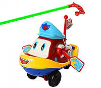 Игрушка каталка катер, на палке 364