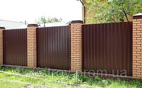 Забор из профнастила в Запорожье. Доставка. Установка. Гарантия.