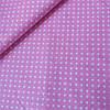 Ткань с мелкими белыми сердечками на ярко-розовом фоне, ширина 160 см
