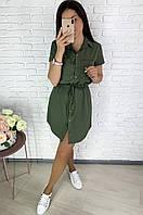 Легкое стильное летнее мини платье Размер 42-44,46-48,50-52 Ткань софт диагональ