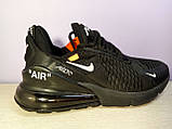 Чоловічі кросівки в стилі Air Max 270 Off Black, фото 3
