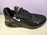 Чоловічі кросівки в стилі Air Max 270 Off Black, фото 4