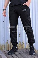 Спортивные штаны летние трикотажные FCT черные