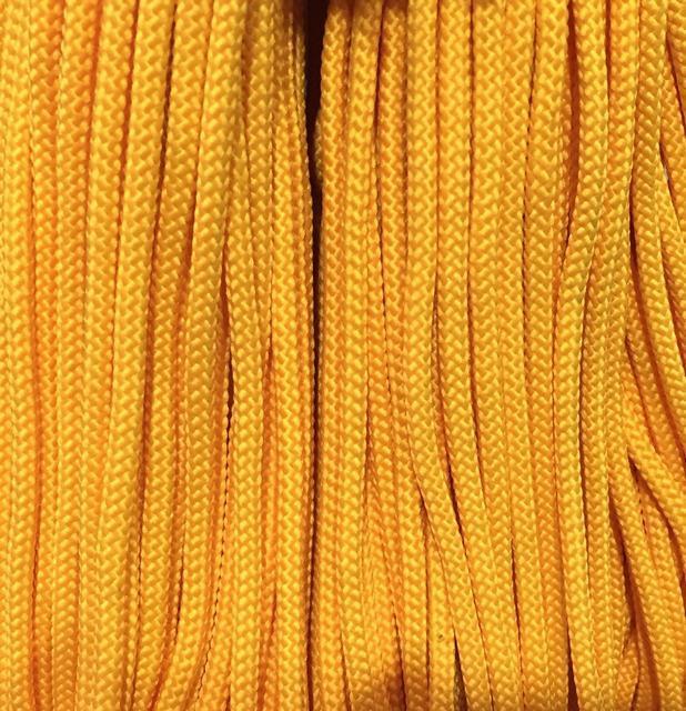 Шнур для одежды 4мм цв желтый (уп 100м) 016Ф