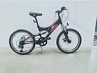 Детский велосипед скоростной Crosser Smart 20 дюймов черно-красный