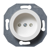 Розетка без заземления Белая модуль Renova Schneider Electric,WDE011101