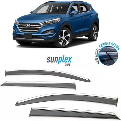Дефлектор на окна (ветровики) SUNPLEX Hyundai Tucson 2015-2019 PLUS-1 009 001