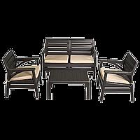 Набір меблів Irak Plastik Маямі (2 крісла + лава + столик) темно-коричневий