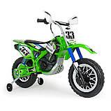 Детский электромобиль мотоцикл Kawasaki 12 В с мощным двигателем, рукояткой, INJUSA Испания (6835), фото 2