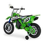 Детский электромобиль мотоцикл Kawasaki 12 В с мощным двигателем, рукояткой, INJUSA Испания (6835), фото 3