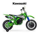 Детский электромобиль мотоцикл Kawasaki 12 В с мощным двигателем, рукояткой, INJUSA Испания (6835), фото 4
