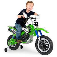 Электрический мотоцикл Kawasaki 12 В с мощным двигателем, рукояткой, спортивный дизайн INJUSA Испания (6835)