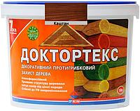 Лазурь-лак антисептический ІРКОМ ДОКТОРТЕКС ІР-013 для древесины каштан 10л