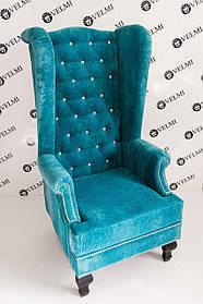 Кресло педикюрное Трон Diamant ткань велюр Florida Coral (Velmi TM)