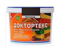 Лазурь-лак антисептический ІРКОМ ДОКТОРТЕКС ІР-013 для древесины полисандр 3л