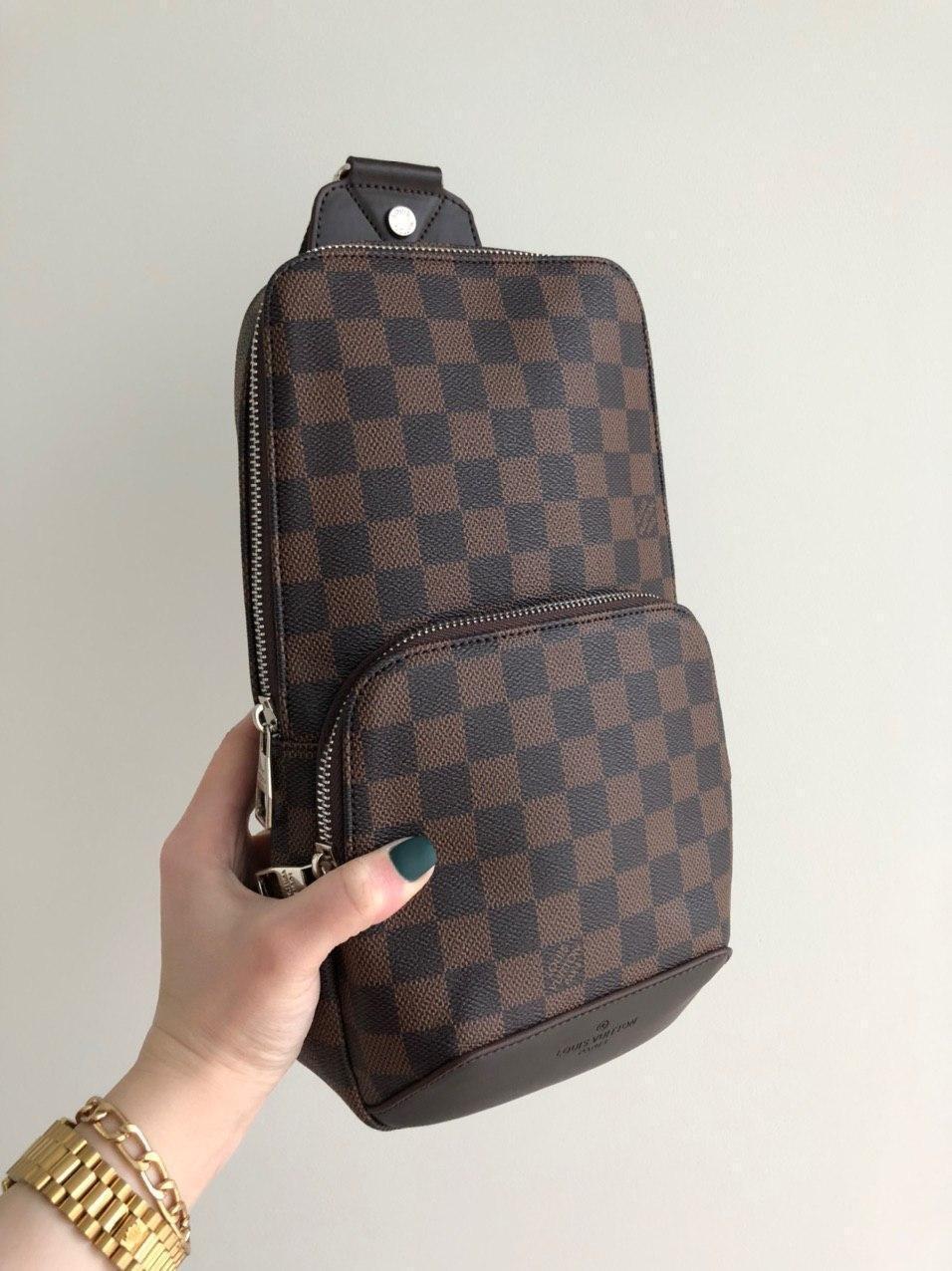 Сумка слинг через плечо Louis Vuitton M128 коричневая
